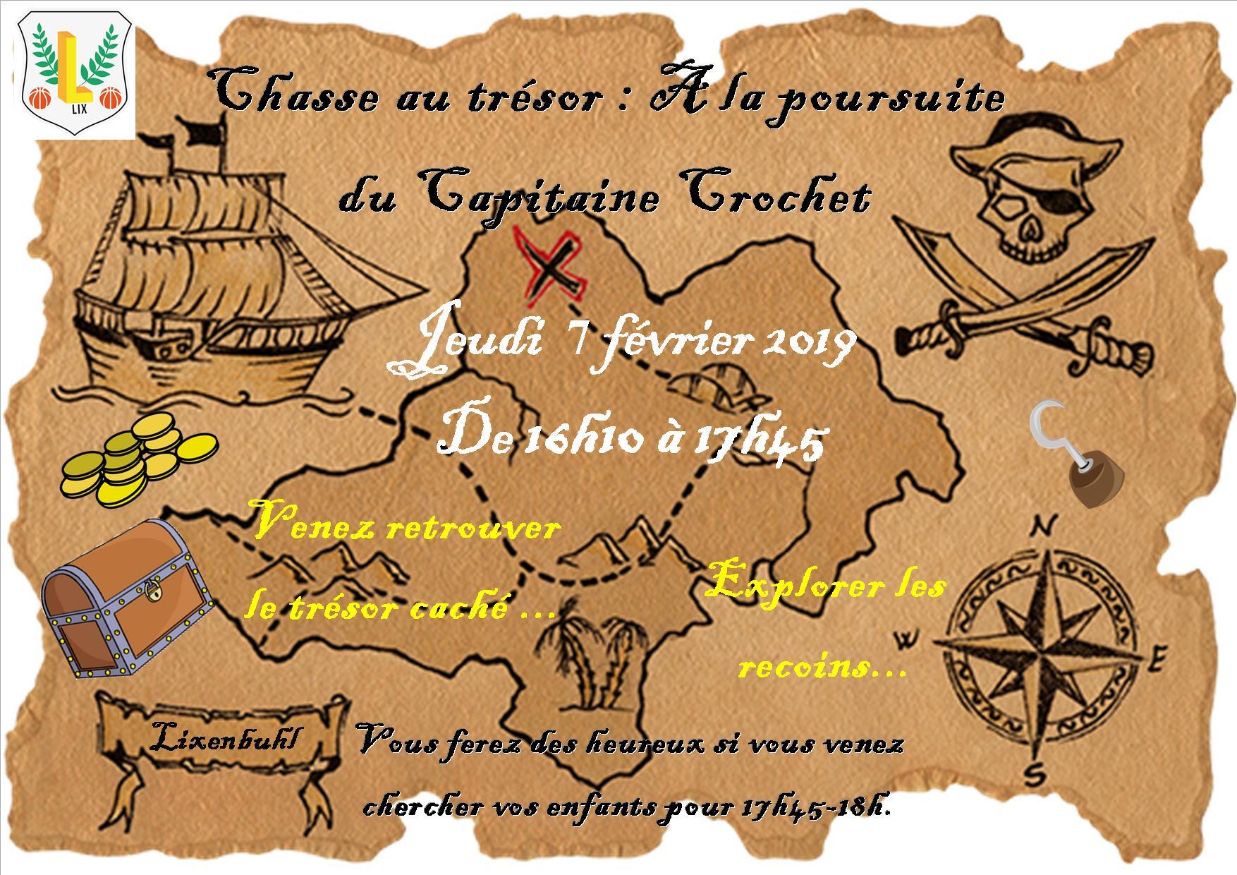 Affiche chasse au trésor
